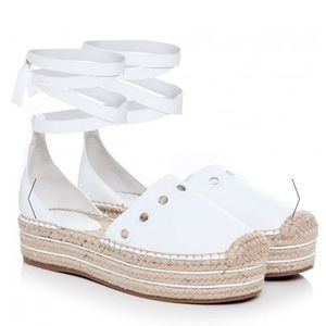 Kendall and Kylie Ariela Kid- espadrilles-White.